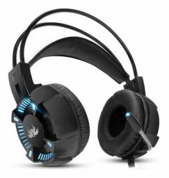 Headset Gamer 7.1 Pc Knup Kp464 P2 Usb Microfone Super Bass