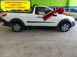 Fiat Strada Hard Working 1.4 completa, apenas 71.000km (8.900 ent + 60x de 959,00)
