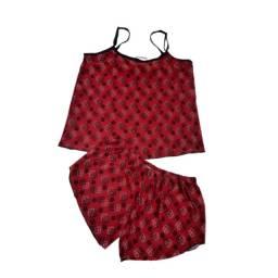 Pijama Feminino Curto Malha Lindo E Estampado E Confortável