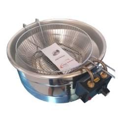 Fritadeira Elétrico 8 litros Inox com Termostato Novo