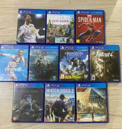 Play Station 4 Slim 1 TB + 10 jogos + 1 controle Red