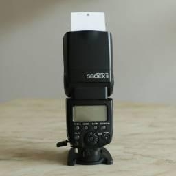 Fash Canon 580exII (com três acessórios). Última foto
