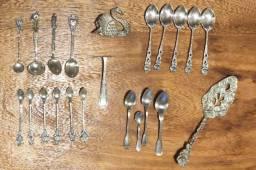 Colheres e utensílios de prata