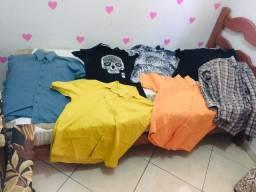 Camisas LOTE Botucatu 20,00 tudo sociais manga curta+ blusa de frio original VENON
