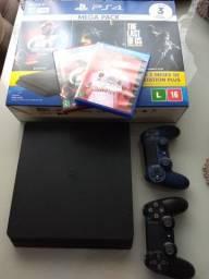 PS4 1TB+ 2 controles + FIFA 2020+Gran Turismo sport