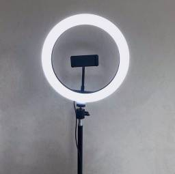 Iluminador RING LIGHT 26cm +  suporte central + Tripé  ??