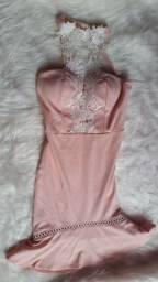 Vestido de grife/Veste P/M/Rosa claro/tenho outros modelos disponíveis/leia a descrição
