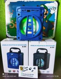 Caixa de som Bluetooth Rádio FM Entrega grátis