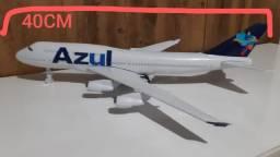Avião  azul brinquedo