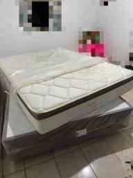 Título do anúncio: Cama Box e colchão casal IDEIA HERVAL Capri Molas Ensacadas e Pillow