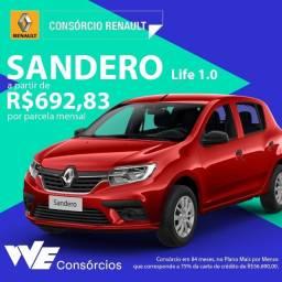 Renault Sandero ou Kwid 0KM sem entrada baixo score