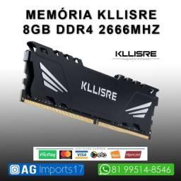 Memória Ram Gamer - DDR4 2666mhz - Kllisre
