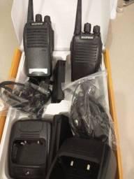 Título do anúncio: Rádio comunicador kit completo com fone de ouvido