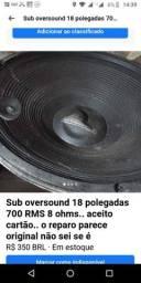 """Alto falante oversound 18""""""""700w 8 homs"""