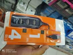Hub USB 4 Portas Extensão Novo   Entrega Garantia Atacado