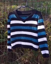 Blusão tricot Listrado