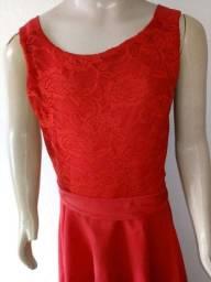 Vestido feminino infantil vermelho