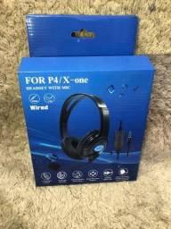 Título do anúncio: Headset Fone De Ouvido Ps4 Playstation 4 Jogos Online Skype