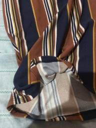 Título do anúncio: Calça pantacourt listrada TAM G