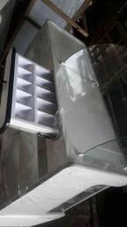 Título do anúncio: Balcão vitrine seco Hatra 120cm Novo com caixa