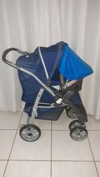 Título do anúncio: Carrinho e bebê conforto burigotto semi novo
