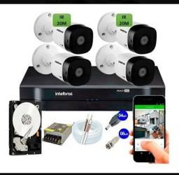 Câmeras de segurança kit instalado completo
