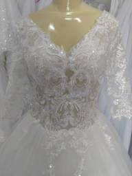 Vestido de Noiva Princesa Off White