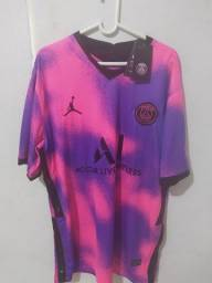 Camisa do PSG Rosa/Roxa
