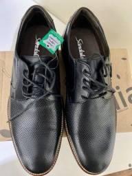 Sapato oxford Sândalo em couro legítimo 39