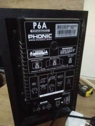 caixas de referencia phonic p6 a (par) f