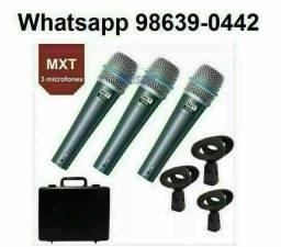 Kit Microfone Mxt Beta 57 com Maleta + cachimbos (Novo, aceito cartão)