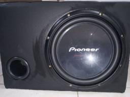 Caixa com Sub Pioneer (Aceito Cartão)