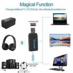 Transmissor de audio da TV P/ Seu Fone Bluetooth Via Conexão P2 3.5mm<br>