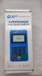 Maquineta Mercado Pago com chip, aceita pagamento por aproximação