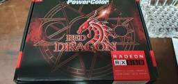 RX 550 4g Power Color Placa de Video