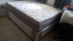 Base cama box casal semi nova