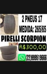 PAR DE PNEUS 17 265/65 PIRELLI SCORPION