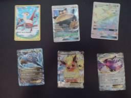 Título do anúncio: Kit cartas 6 raras pokémon