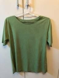 Camiseta verde de veludo