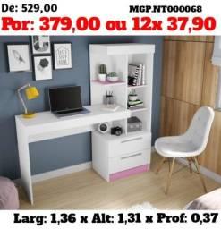 Mesa de Estudo-Escrivaninha de Estudo-Escritorio-Computador-LiquidaEscritorioMS
