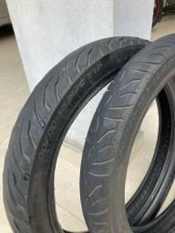 Título do anúncio: 2 Pneus Moto Super City; Pirelli (sem câmara); Excelente estado de conservação