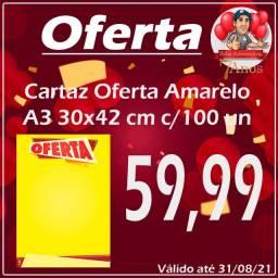 Cartaz oferta A3 30x42cm c/100