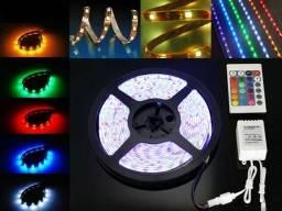 Título do anúncio: Fita Neon Led Multi Cores com Controle Decoração Gamer Moderna 5 Metros