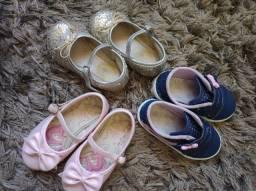 Oportunidade Trio de sapatinhos meninas