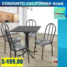 Mesa 4 cadeiras varios modelos
