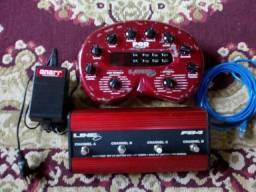 Guitarra + case + pedaleira