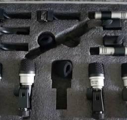 Kit Microfone De Bateria Mxds-7 e Jts