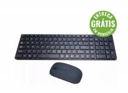 Kit Teclado + Mouse S/ Fio Bk-s1100 2.4ghz Exbom - entrega grátis