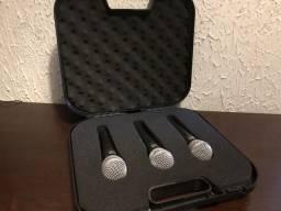 Microfone Kit C/3 Kds58v + Maleta