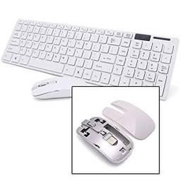 Kit Teclado e Mouse Sem fio Wifi Usb 1600Dpi 2.4Ghz Smart PC